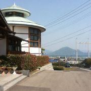 しまなみ海道を渡る途中で、温泉につかる