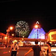 青森の夏祭り最後を飾る花火