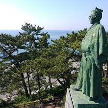 桂浜といえば龍馬像