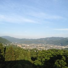 お部屋からの景色。由布岳側ではなかったですが良かったです