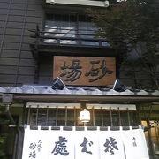 ビルに囲まれたオフィス街の蕎麦屋