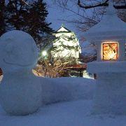 雪と灯りのコラボレーション