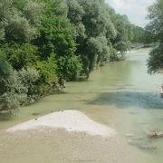 ドナウ川の支流のイザール川