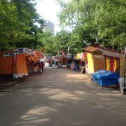 中島公園では露店の営業