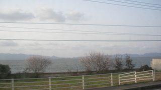 宍道湖同様、大きいです