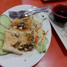 Local fresh fish(マグロでした)ガーリック醤