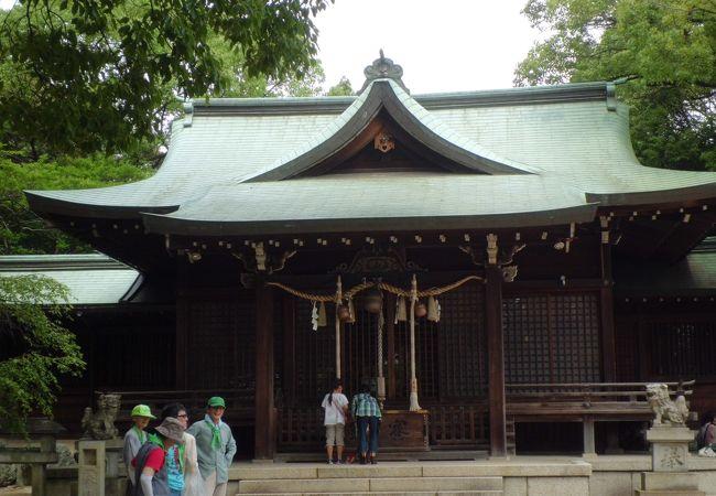 小牧山麓の神社
