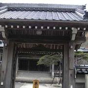 江戸時代の建物が残る古刹