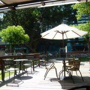 日本統治時代の建物を使用したカフェ。