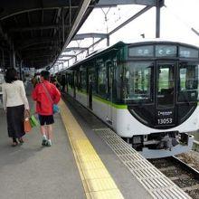 中書島(ちゅうしょじま)行き各駅停車