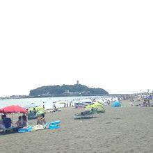 江の島横の海水浴場です!!