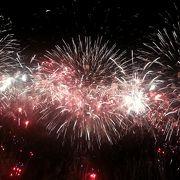 視界に入りきらないほど大きな花火
