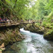 スロヴェニアの赤目四十八滝