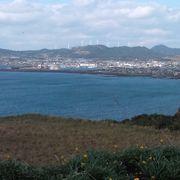 枕崎市外を一望できます