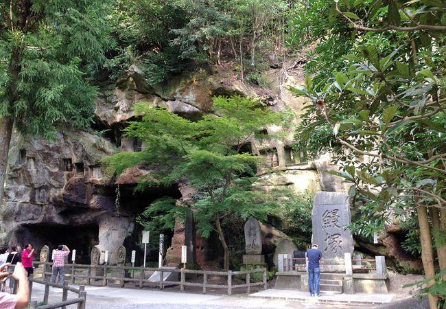 瑞巌寺境内の岩屋