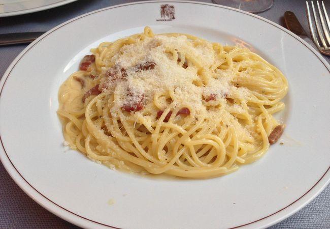 イタリア、ローマ。食べたかったカルボナーラ!
