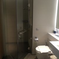 広めのシャワールーム。トイレはウォシュレットではなくシャワー
