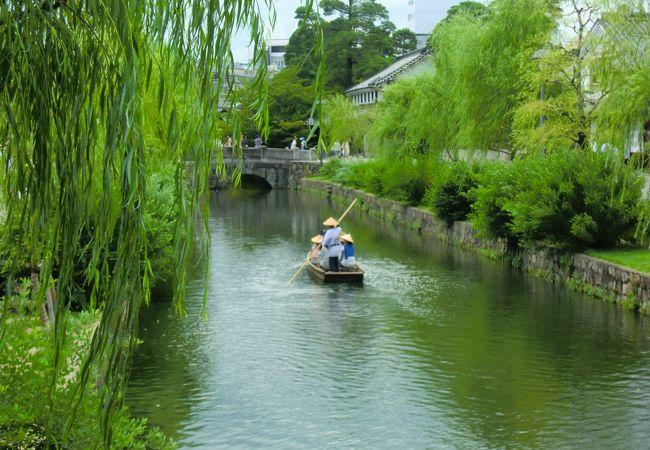メインの風景、くらしき川舟流しも