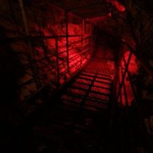 鍾乳洞の中。