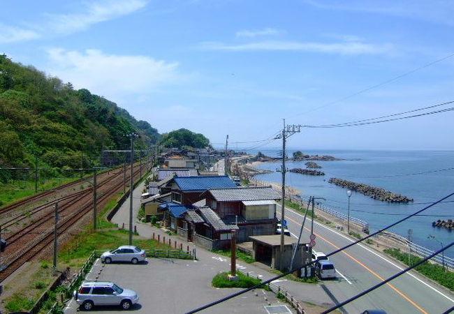 海岸線沿い JR桑川駅すぐ