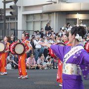 太鼓のパレード