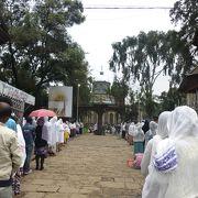 エチオピアの人は熱心なキリスト教徒が多い