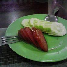 台湾風腸詰めと同じ味でした。