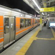JR中央線と愛知環状鉄道の駅