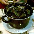 ブリュッセルに行くたびにここでムール貝を食べます
