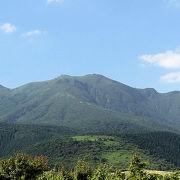 九重連山の南側にそびえる形の良い火山