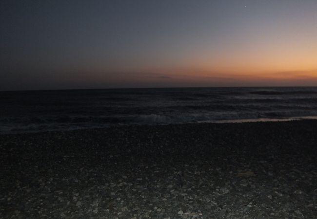 日没直前の砂丘