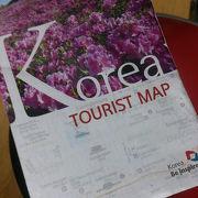 英語版の、Tourist map