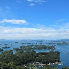 九十九島を見渡すダイナミックなパノラマ