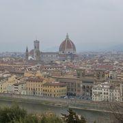 遠い所からフィレンツェを一望できる絶景ぽいんとです