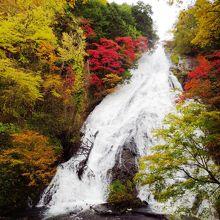 岩肌を流れ落ちるダイナミックな滝