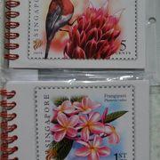 切手のデザインのメモパットはお土産に最適