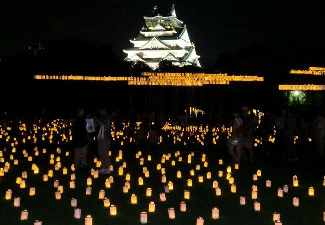 ライトアップイベント(西の丸庭園より)
