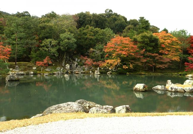 龍門の滝。鯉魚石も見えます。