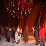 冬の北海道のお祭りを楽しみました。