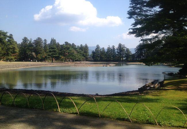 毛越寺の庭園です