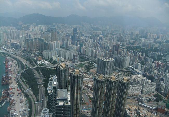 スカイ100からの香港の景色