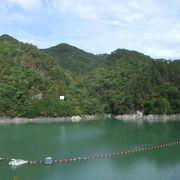 川俣ダムによってできた人造湖