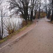 外アルスター湖は一周7kmほど