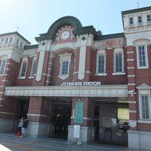 有名な深谷駅。