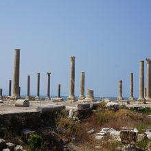 地震等でフェニキア時代の遺跡はこの先の海底だそうです