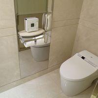 紙も流せる全自動トイレ