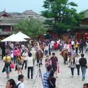 麗江古城の中心地