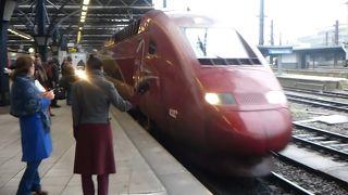 ブリュッセルとパリを1時間20分で結ぶ便利で快適な国際特急列車