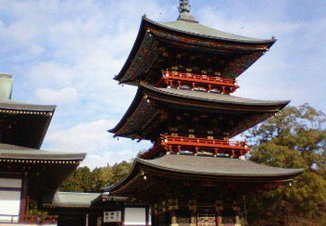 成田山新勝寺三重塔