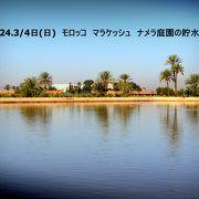 大きな貯水池のある「メナラ庭園」